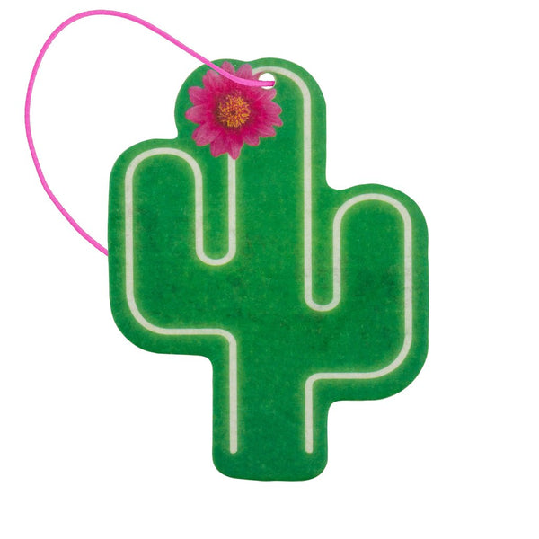 Cactus Shaped Air Freshener Set Of 2 - Ocean Scent - Flamingo Boutique