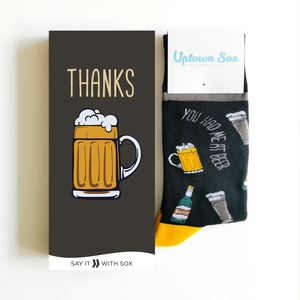 Thanks Beer Card & Socks - Flamingo Boutique