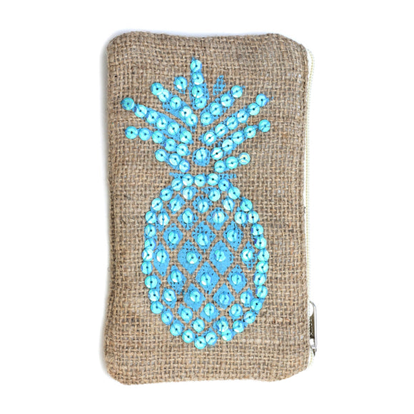 Pineapple Sequin Pouch - Flamingo Boutique