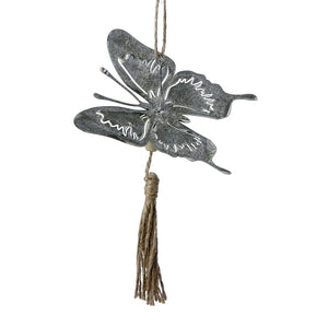 Hanging Metal Butterfly Ornament - Flamingo Boutique