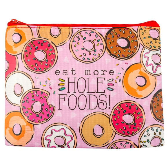 Donut Recycled Carry All Pouch - Flamingo Boutique