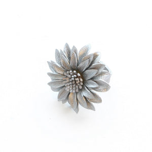 Leather Flower Ring - Flamingo Boutique