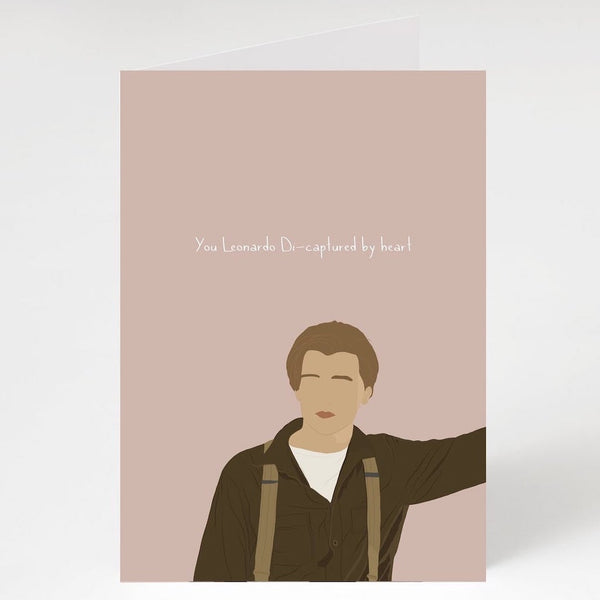 You Leonardo Di-Captured By Heart Card