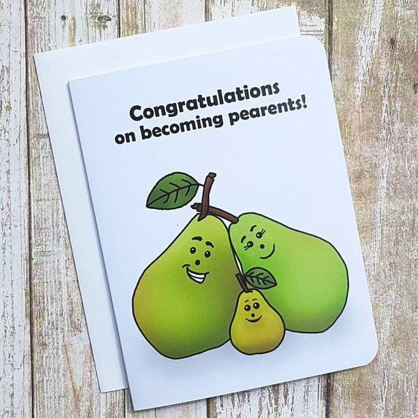 Congratulations On Becoming Pearants Card - Flamingo Boutique
