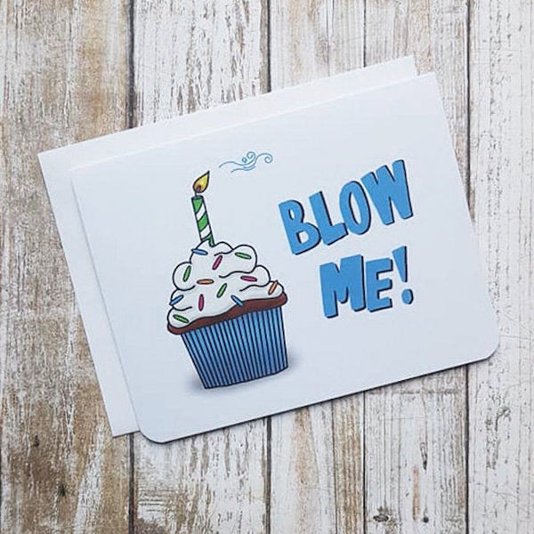 Blow Me Card - Flamingo Boutique