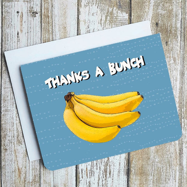 Thanks A Bunch Card - Flamingo Boutique
