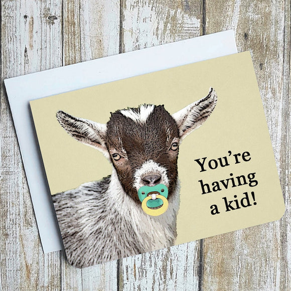 You're Having A Kid Card - Flamingo Boutique