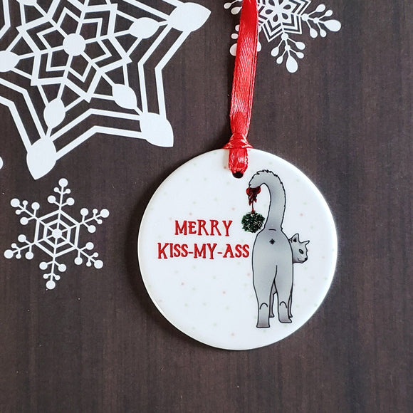 Merry Kiss My Ass Ornament