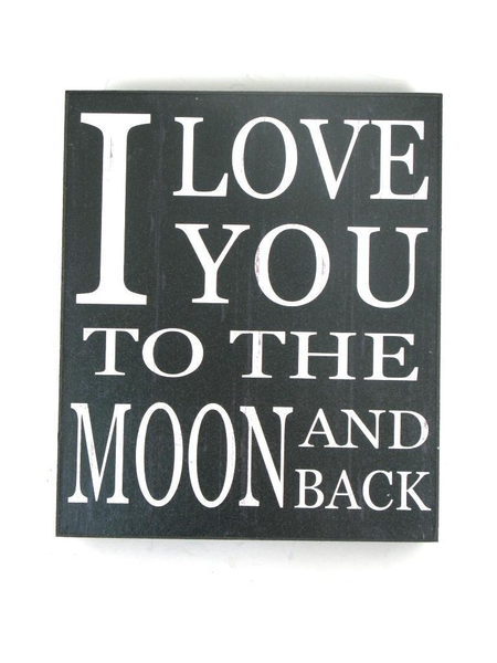 I Love You To The Moon Shelf Sign - Flamingo Boutique