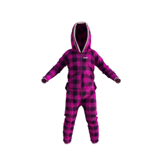 Pook Kid's Onesie Pink Plaid