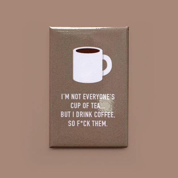 I Drink Coffee Magnet - Flamingo Boutique
