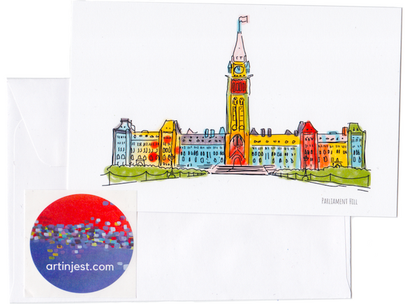 Parliament Hill Ottawa Card - Flamingo Boutique