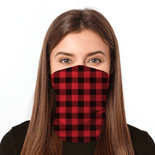 Red Plaid  Print Gaiter