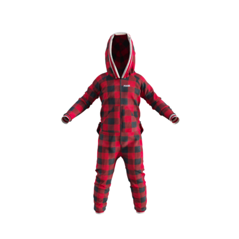 Pook Kid's Onesie Red Plaid