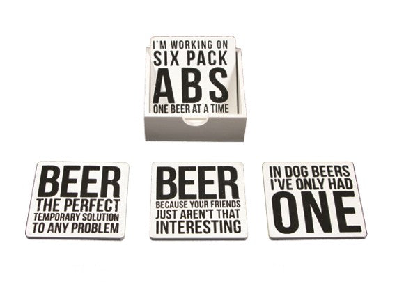 Set Of 4 Beer Coaster