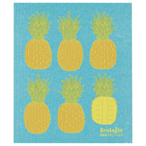 Pineapples Swedish Dish Cloth - Flamingo Boutique