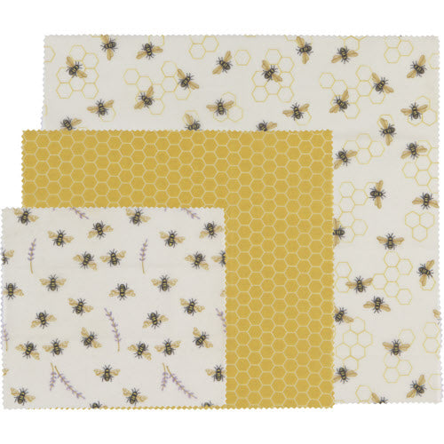 Bumblebee Set Of 3 Bees Wax Food Wraps
