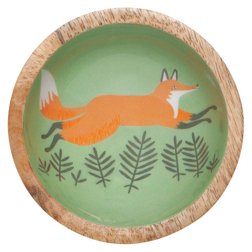 Mini Hill & Dale Fox Mango Wood Bowl - Flamingo Boutique