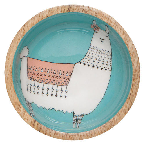 Mini Llama Mango Wood Bowl - Flamingo Boutique