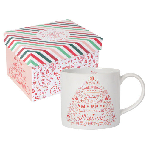 Merry Little Christmas Mug In A Box - Flamingo Boutique