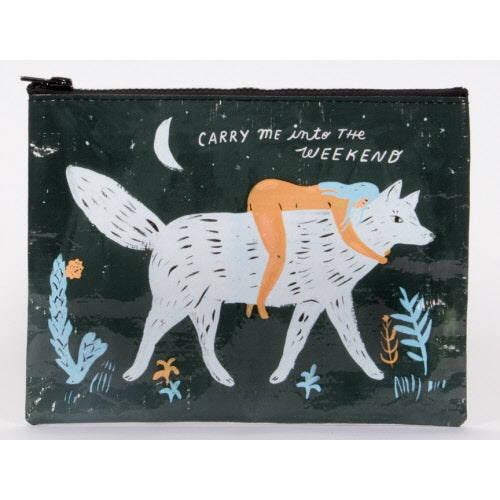 Carry Me Into The Weekend Zipper Pouch - Flamingo Boutique