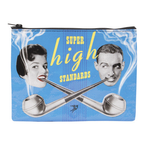 Super High Standards Zipper Pouch - Flamingo Boutique