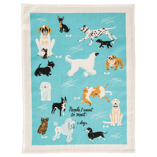 People I Want To Meet. 1.Dog Tea Towel - Flamingo Boutique