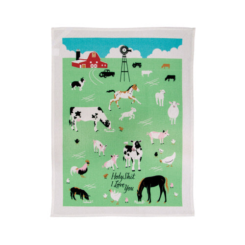 Holy Shit I Love You Tea Towel - Flamingo Boutique