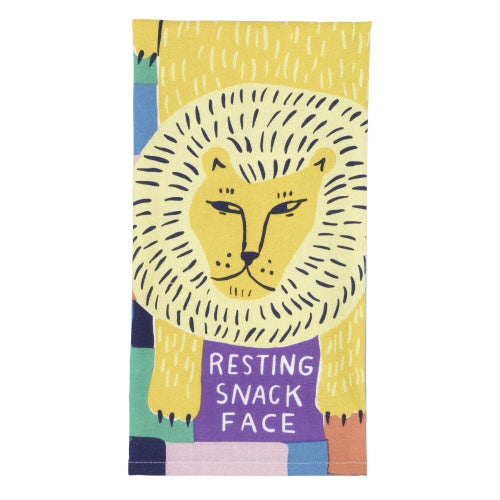 Resting Snack Face Tea Towel - Flamingo Boutique