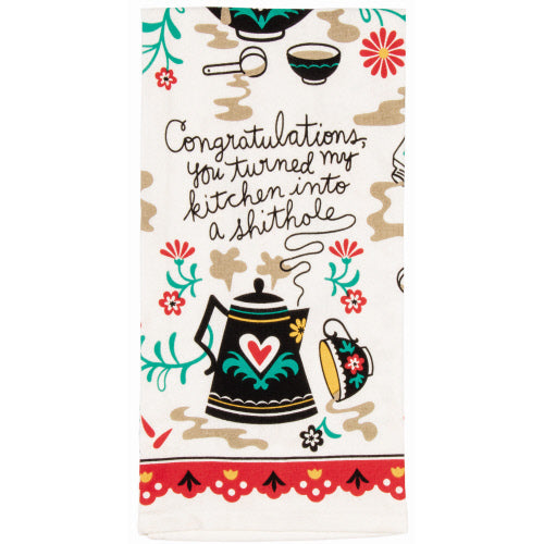 Congratulations You Turned My Kitchen Into A Shithole Tea Towel - Flamingo Boutique