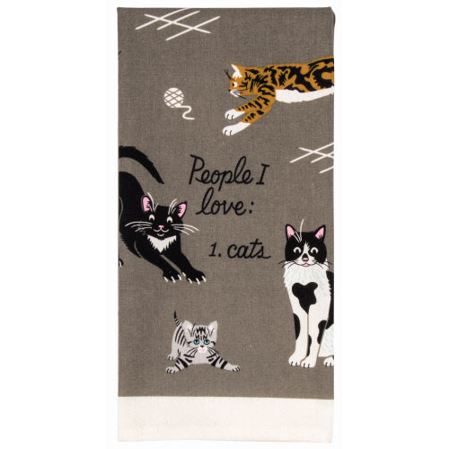 People I Love: Cats Tea Towel - Flamingo Boutique