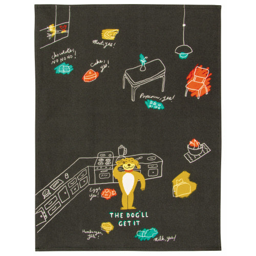The Dog Will Get It Tea Towel - Flamingo Boutique
