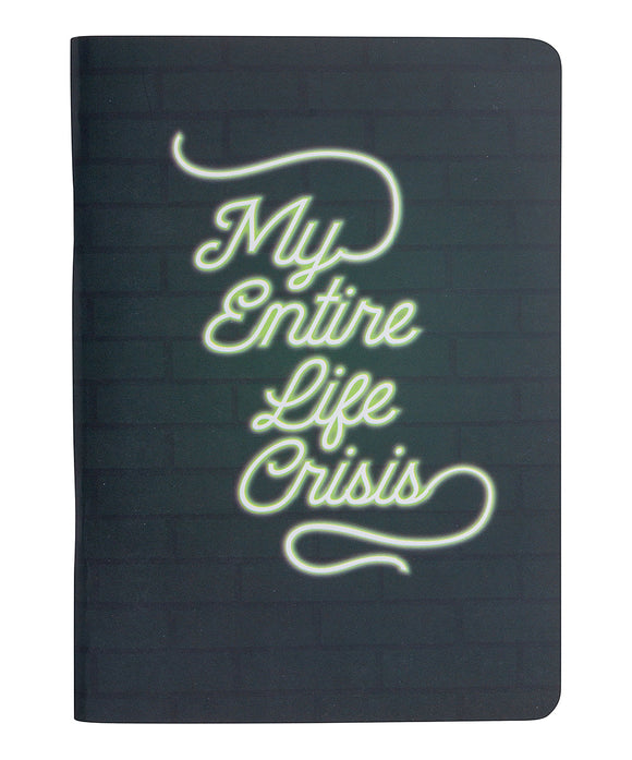 My Entire Life In Crisis  Pocket Notebook - Flamingo Boutique