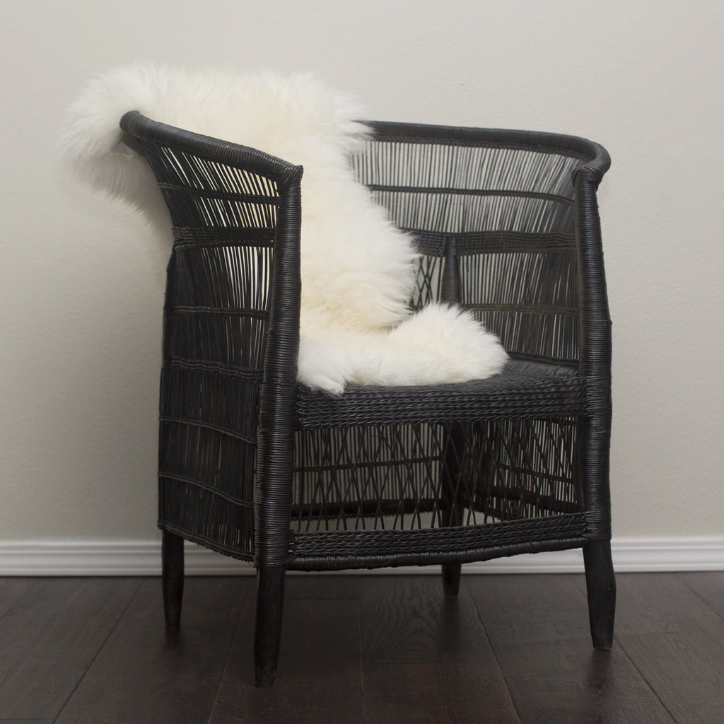 Woven Malawi Chair - Black