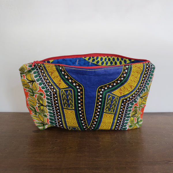 Traditional African Wax Print Clutch