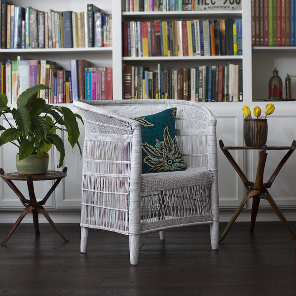 Set of 4 Woven Malawi Chairs - White or mix & match