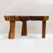 3-Leg Reclaimed Teak African Live Edge Coffee Table