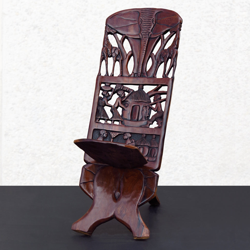 "Chief's Chair - ""The Mahogany Elephant"""