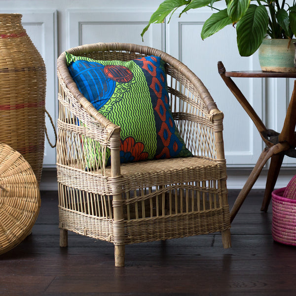 Set of 2 Kid's Woven Malawi Chairs