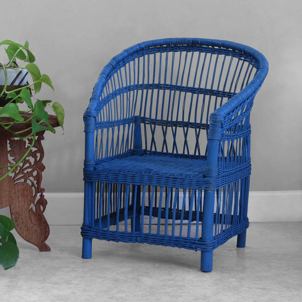 Kid's Woven Malawi Chair - Blueberry