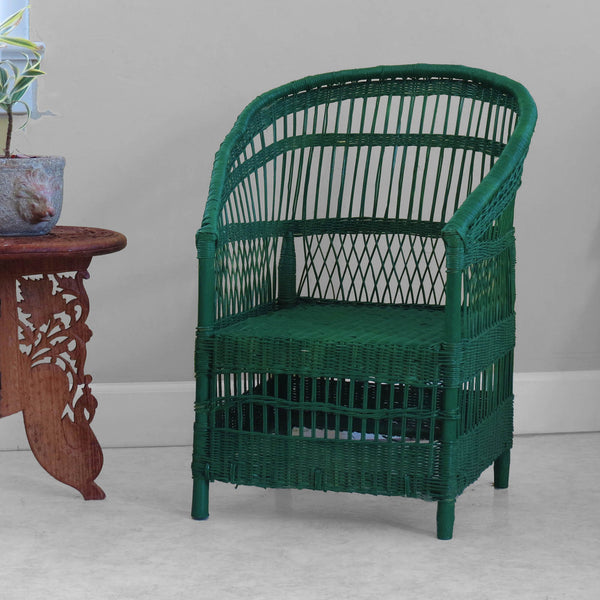 Set of 2 Kid's Woven Malawi Chair - Forest Green or mix & match