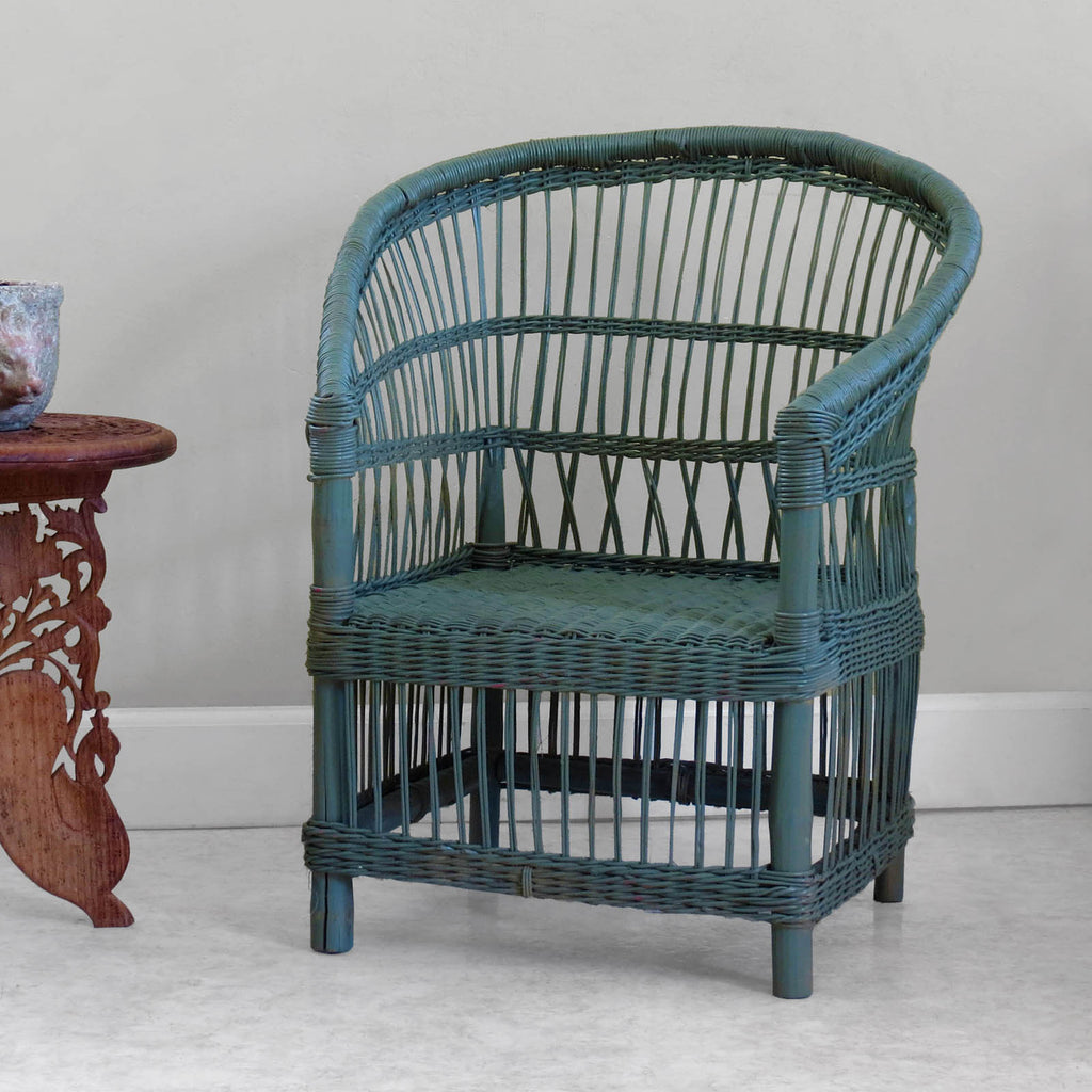 Kid's Woven Malawi Chair - Green Gray