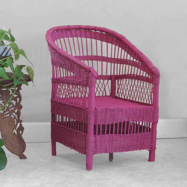 Kid's Woven Malawi Chair - Hot Pink