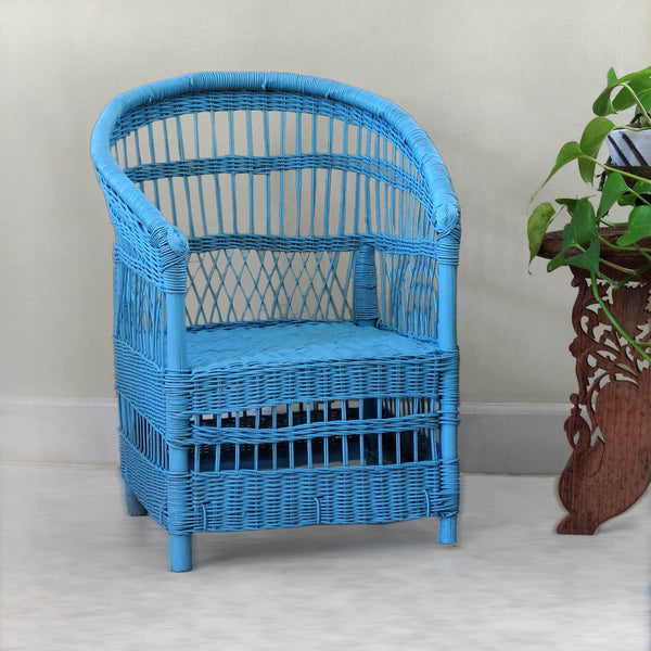 Kid's Woven Malawi Chair - Light Blue