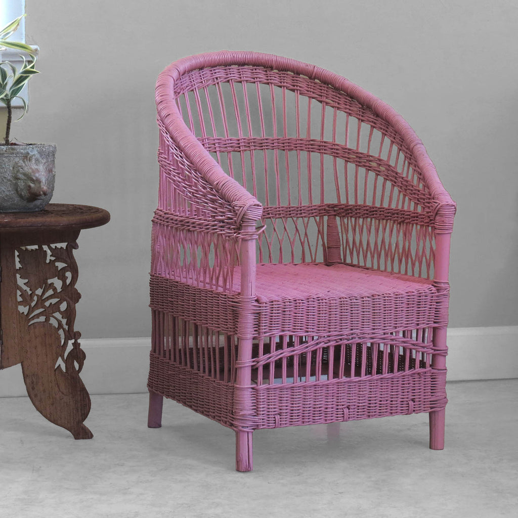 Kid's Woven Malawi Chair - Pink