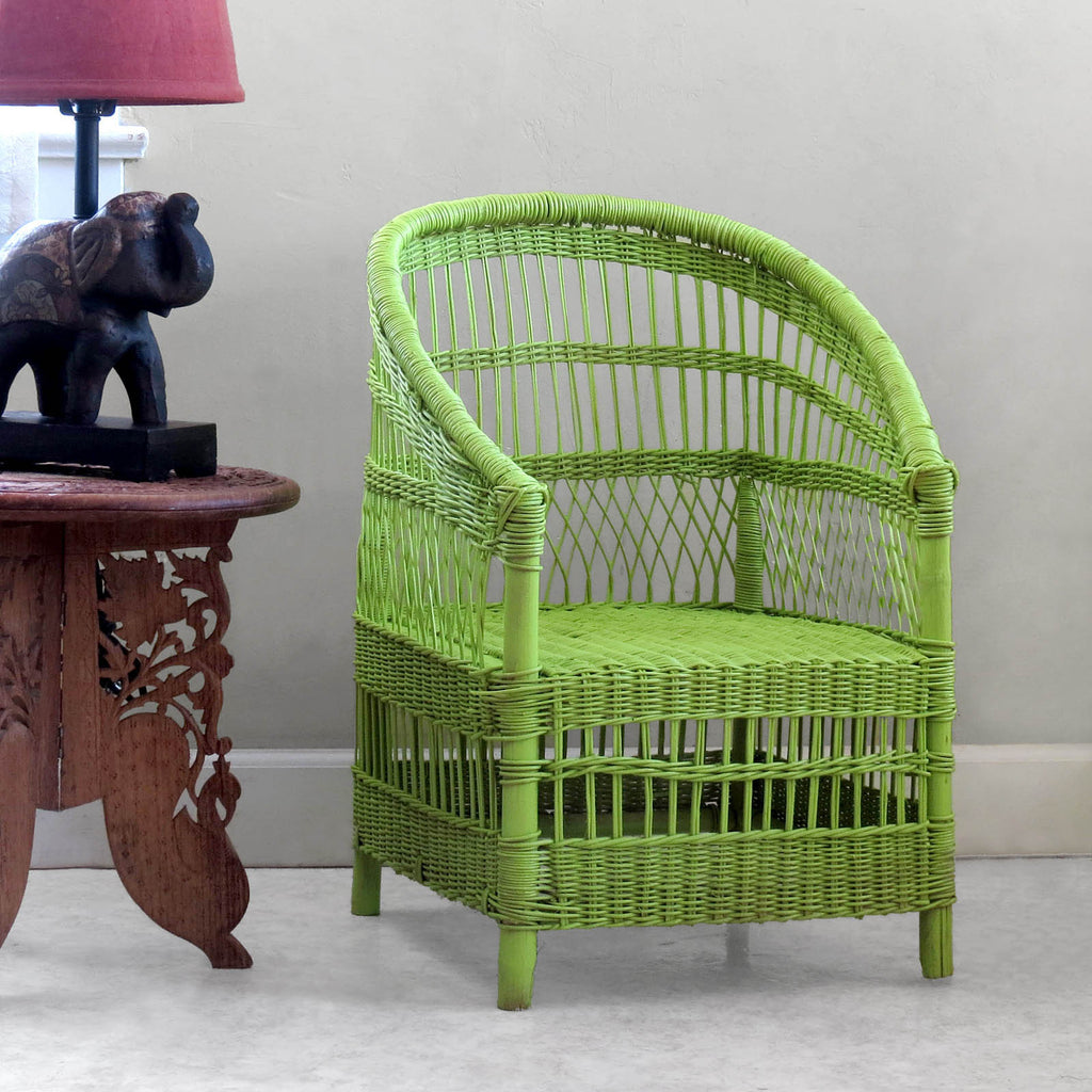 Kid's Woven Malawi Chair - Spring Green