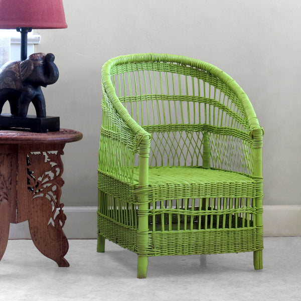 Set of 4 Kid's Woven Malawi Chair - Spring Green or mix & match