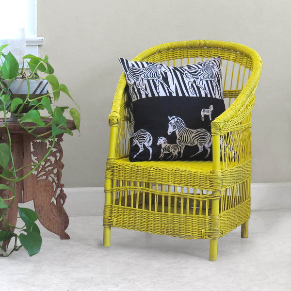 Kid's Woven Malawi Chair - Yellow