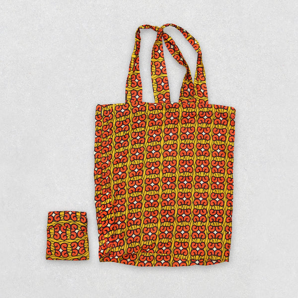 African Wax Print Shopping Bag
