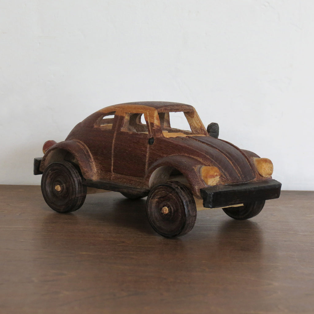 Handcarved Toy VW Bug